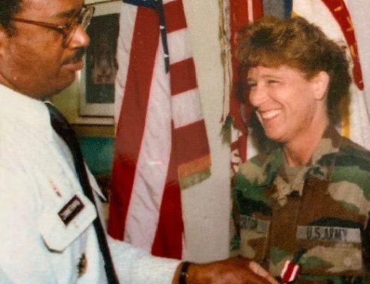 Janet Horton receives her medal